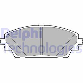 Brake Pad Set, disc brake Article № LP2701 £ 140,00