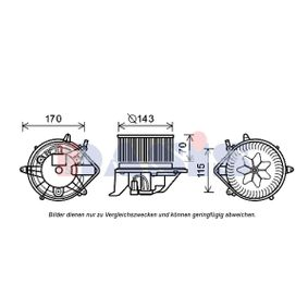 Innenraumgebläse Spannung: 12V mit OEM-Nummer 9266899
