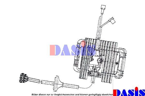 AKS DASIS  740141N Steuergerät, Heizung / Lüftung