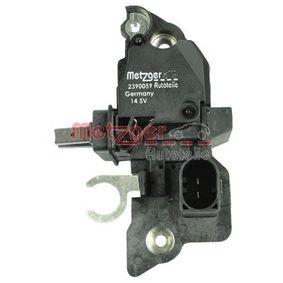 METZGER Generatorregler 2390059 für AUDI A4 (8E2, B6) 1.9 TDI ab Baujahr 11.2000, 130 PS