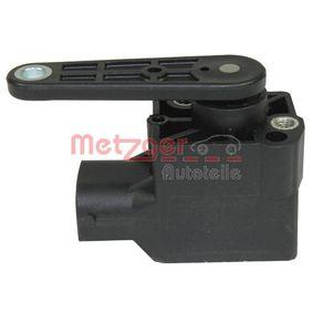 METZGER Sensor, Xenonlicht (Leuchtweiteregulierung) 0901087 für BMW 5 (E60) 530 xi ab Baujahr 01.2007, 272 PS