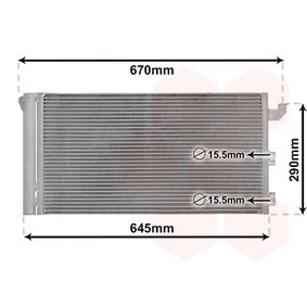 Condenser, air conditioning 17005406 PANDA (169) 1.2 MY 2005