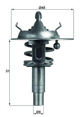 Radiator Thermostat TX 106 90D MAHLE ORIGINAL 70594767 original quality