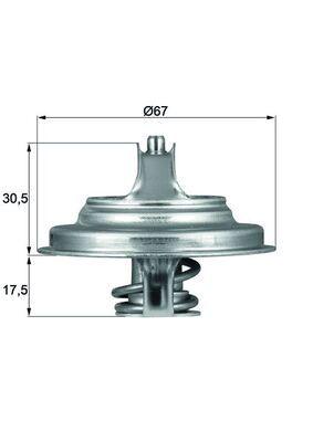 Kühlwasserthermostat TX 54 83D MAHLE ORIGINAL 70808704 in Original Qualität