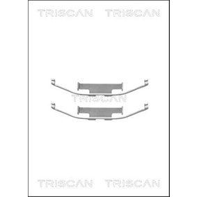 Accesorios y Piezas BMW 3 Coupé (E46) 318 Ci de Año 03.2005 150 CV: Kit de accesorios, pastillas de frenos (8105 111572) para de TRISCAN