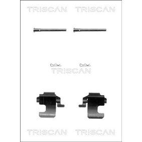 Accessory Kit, disc brake pads 8105 151348 PANDA (169) 1.2 MY 2008