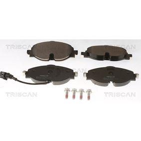Kit de plaquettes de frein, frein à disque Largeur: 160,2mm, Hauteur: 64,5mm, Épaisseur: 20,4mm avec OEM numéro 8V0 698 151D