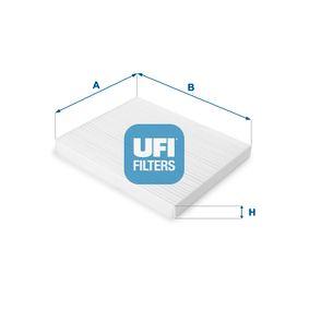 Filter, Innenraumluft Länge: 188mm, Breite: 238mm, Höhe: 20mm mit OEM-Nummer 97133 2E260AT