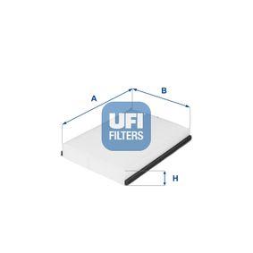 Filter, Innenraumluft Länge: 220,0mm, Breite: 158,0mm, Höhe: 30,0mm mit OEM-Nummer 68212070AA