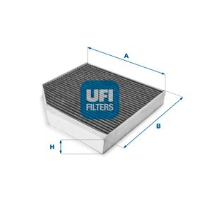Filter, Innenraumluft Länge: 250mm, Breite: 256mm, Höhe: 35mm mit OEM-Nummer 4H0-819-439