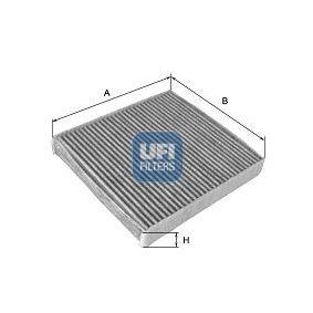 Filter, Innenraumluft Länge: 265mm, Breite: 190mm, Höhe: 25mm mit OEM-Nummer 22 753 219