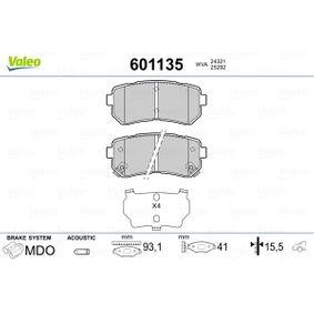 2019 Kia Sportage Mk3 1.7 CRDi Brake Pad Set, disc brake 601135