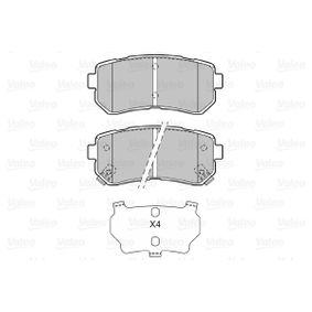 Brake Pad Set, disc brake Width: 93mm, Height: 41mm, Thickness: 15,5mm with OEM Number 583024WA10