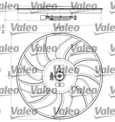 VALEO Ventola, Raffreddamento motore 696350