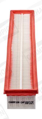 CHAMPION  CAF100717P Luftfilter Länge: 520mm, Breite: 86mm, Breite 1: 76mm, Breite 2: 72mm, Höhe: 55mm, Länge: 510mm