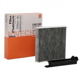 Filter, interior air Length: 181mm, Width: 181mm, Height: 43mm with OEM Number 77 11 426 872