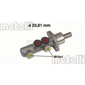 METELLI Hauptbremszylinder 05-0259 für AUDI 80 (8C, B4) 2.8 quattro ab Baujahr 09.1991, 174 PS