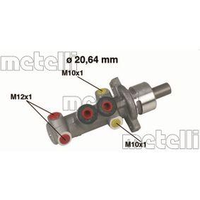 Renault Clio 2 1.5dCi (B/CB03) Hauptbremszylinder METELLI 05-0319 (1.5dCi (B/CB03) Diesel 2002 K9K 702)