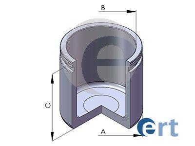 ERT  150233-C Kolben, Bremssattel Ø: 54mm, Höhe: 54mm, LUCAS
