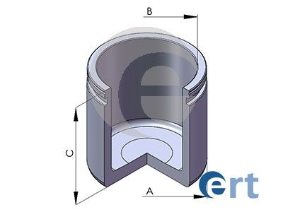 ERT  150233-C Piston, brake caliper Ø: 54mm, Height: 54mm, LUCAS