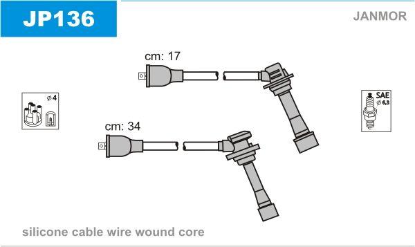 JANMOR  JP136 Juego de cables de encendido Silicona