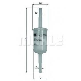KNECHT Kraftstofffilter KL 15 für AUDI 100 (44, 44Q, C3) 1.8 ab Baujahr 02.1986, 88 PS