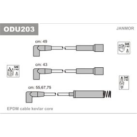 Cables de Encendido OPEL CORSA A TR (91_, 92_, 96_, 97_) 1.2 S de Año 09.1982 55 CV: Juego de cables de encendido (ODU203) para de JANMOR