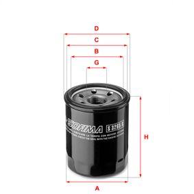SOFIMA  S 3265 R Oil Filter Ø: 68,0mm, Outer diameter 2: 64,0mm, Inner Diameter 2: 56,0mm, Height: 87,5mm