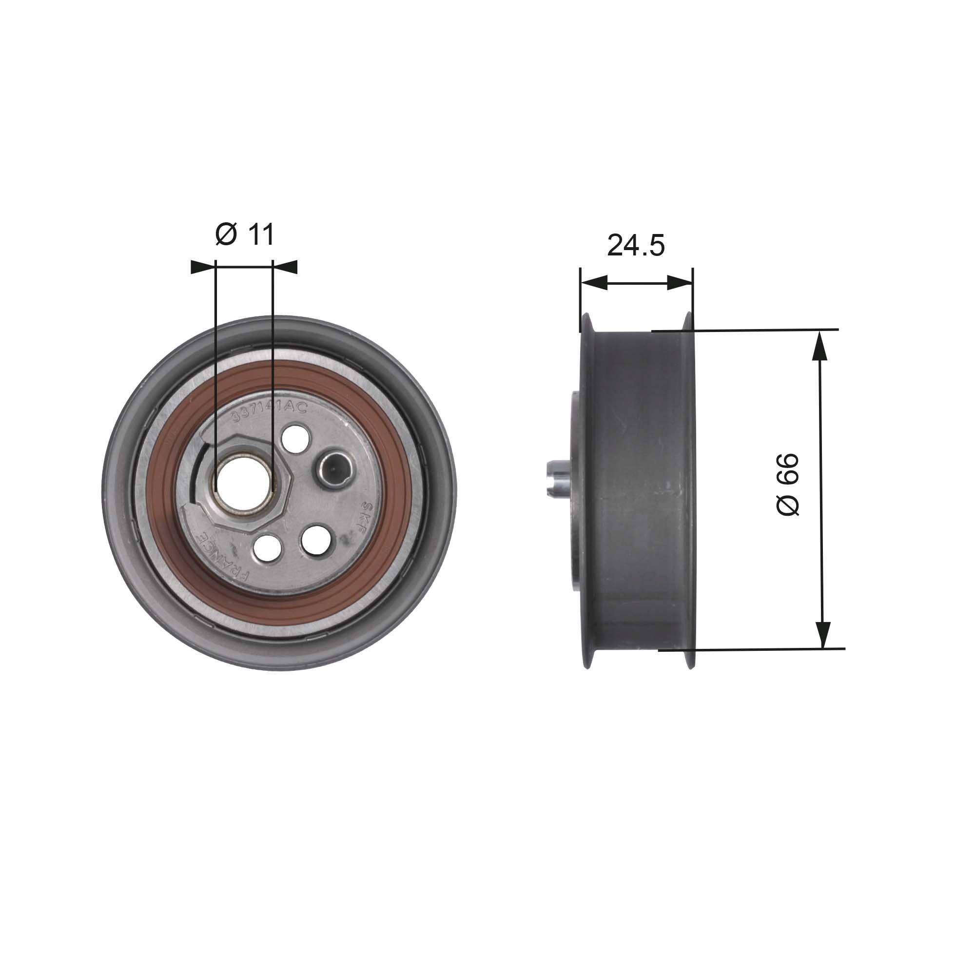 GATES  T41103 Spannrolle, Zahnriemen Ø: 66mm