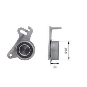 Spannrolle, Zahnriemen Ø: 57mm mit OEM-Nummer MD050125