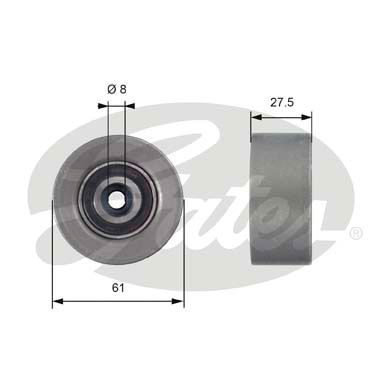 GATES  T42151 Deflection / Guide Pulley, timing belt