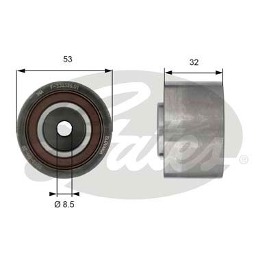 GATES  T42179 Deflection / Guide Pulley, timing belt