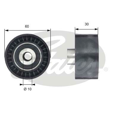 GATES  T42199 Deflection / Guide Pulley, timing belt