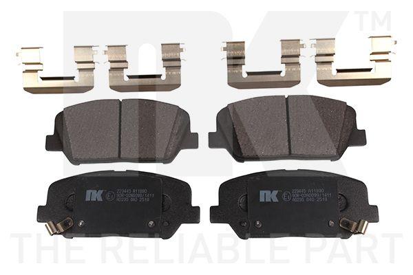 NK  223445 Bremsbelagsatz, Scheibenbremse Breite 1: 140,80mm, Höhe 1: 60,20mm, Dicke/Stärke 1: 16,90mm