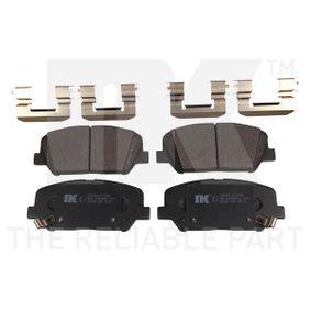 Bremsbelagsatz, Scheibenbremse Breite 2: 140,80mm, Höhe 2: 60,20mm, Dicke/Stärke 2: 16,90mm mit OEM-Nummer 58101 2MA00