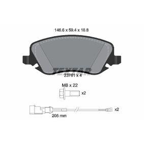 Bremsbelagsatz, Scheibenbremse Breite: 146,6mm, Höhe: 59,4mm, Dicke/Stärke: 18,8mm mit OEM-Nummer 77 362 272
