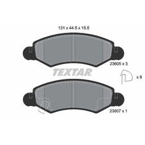 Bremsbelagsatz, Scheibenbremse Breite: 131mm, Höhe: 44,5mm, Dicke/Stärke: 15,5mm mit OEM-Nummer 55810 84E01 000