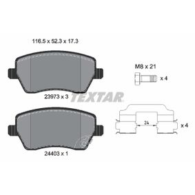 Brake Pad Set, disc brake Width: 116,5mm, Height: 51,9mm, Thickness: 17,3mm with OEM Number 47 01 305
