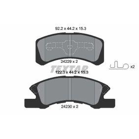 Bremsbelagsatz, Scheibenbremse 2422901 Cuore 6 (L251, L250_, L260_) 0.7 Bj 2008