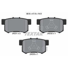 2004 Honda CR-V Mk2 2.0 Brake Pad Set, disc brake 2423101