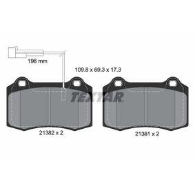 Bremsbelagsatz, Scheibenbremse Breite: 109,8mm, Höhe: 69,3mm, Dicke/Stärke: 17,3mm mit OEM-Nummer 5 892 740