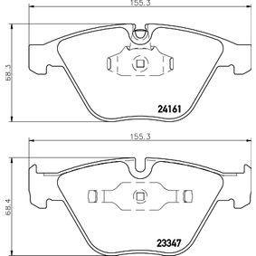 Bremsbelagsatz, Scheibenbremse Breite 2: 155,3mm, Höhe 1: 68,4mm, Höhe 2: 68,3mm, Dicke/Stärke: 20,3mm mit OEM-Nummer 24161