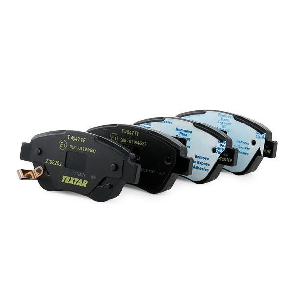 Комплект спирачно феродо, дискови спирачки TEXTAR 23982 4019722279720