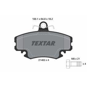 Bremsbelagsatz, Scheibenbremse Breite: 100,1mm, Höhe: 64,8mm, Dicke/Stärke: 18,2mm mit OEM-Nummer 7701 202 289