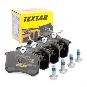 TEXTAR Jogo de pastilhas para travão de disco 2355406 com códigos OEM 7701209841