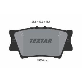 TEXTAR  2433801 Bremsbelagsatz, Scheibenbremse Breite: 96,5mm, Höhe: 49,1mm, Dicke/Stärke: 15,4mm
