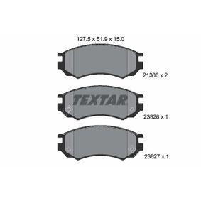Bremsbelagsatz, Scheibenbremse Breite: 127,5mm, Höhe: 51,9mm, Dicke/Stärke: 15mm mit OEM-Nummer D10600N685