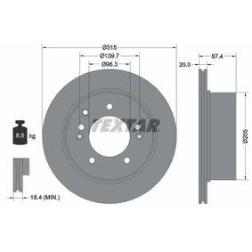 Bremsscheibe Bremsscheibendicke: 20mm, Ø: 315mm mit OEM-Nummer 584113E300