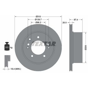 Brake Disc 92147400 SORENTO 1 (JC) 3.5 MY 2004