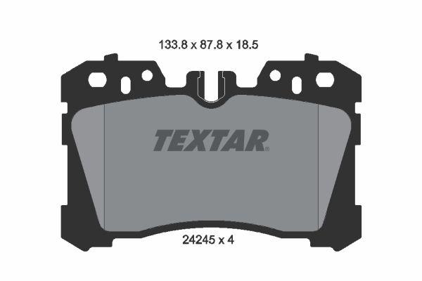 TEXTAR  2424501 Bremsbelagsatz, Scheibenbremse Breite: 133,8mm, Höhe: 87,8mm, Dicke/Stärke: 18,5mm